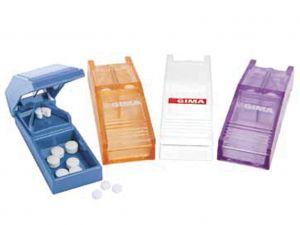 GI-25736 - TAGLIAPILLOLE colori assortiti (3 per colore, bianco, azzurro, lavanda arancio trasparente)
