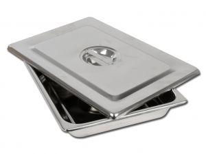 GI-26608 - VASSOIO+COPERCHIO INOX 355x254x50 mm
