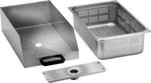 Cajón CCF con filtro de acero inoxidable para pelador de papas / limpiador de helados PPF-LCF