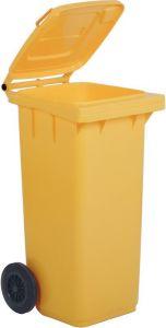 AV4678 Contenedor de residuos amarillo 2 ruedas 100 litros