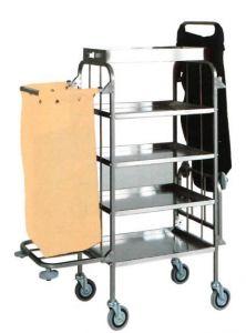 CA1525 Carro para ropa limpieza de acero inoxidable 4 pisos