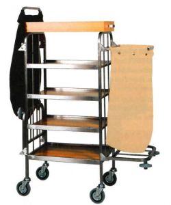 CA740  Carro para ropa limpieza usos múltiples 4 pisos