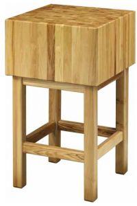 CCL3577 Bloc en bois de 35 cm avec tabouret de 70x70x90h