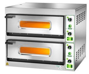 FES66M Horno eléctrico para pizza 14.4 kW habitación doble 66x99.5x14h cm - Monofásica