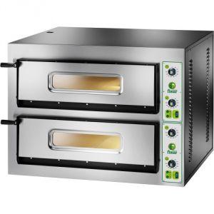 FYL66M Horno de pizza eléctrico de 18 kW habitación doble 72x108x14h cm - Monofásico