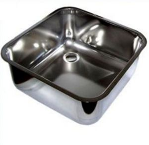 LV33/33P Square stainless steel sink dim. 330x330X200h to be welded with waste
