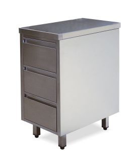 CA3002 stainless steel drawers with 3 drawers