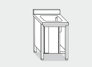 LT1027 Wash Cabinet on stainless steel