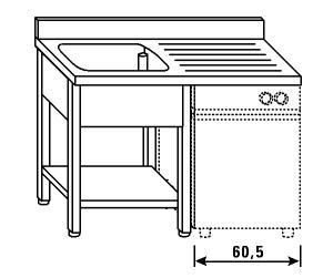 LT1196 Wash legs and shelf dishwasher