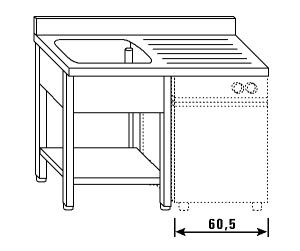 LT1206 Wash legs and shelf dishwasher