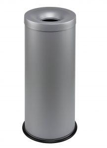 T770032 Grey steel fireproof waste bin 30 liters