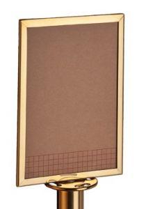 T103383 Pannello informativo acciaio dorato per sistema divisorio
