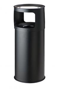 T775051 Portacenere-gettacarte 50 litri ANTIFUOCO metallo nero con sabbia