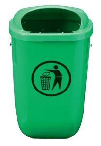 T102050 Gettacarte polietilene verde da esterno 50 litri