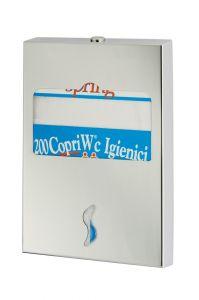 T105052 Distributore di carta copriwater inox AISI 304 satinato