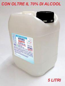 T799052-TAN5 Maxi Ricarica da 5 lt. di Gel idroalcolico igienizzante mani Hydrogerm con alcool oltre il 70%
