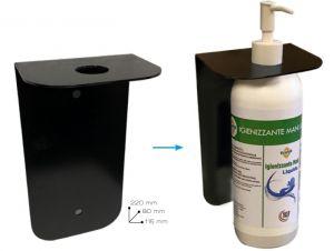 T779055 Support mural en métal conçu pour le distributeur de gel ou le spray désinfectant pour les mains