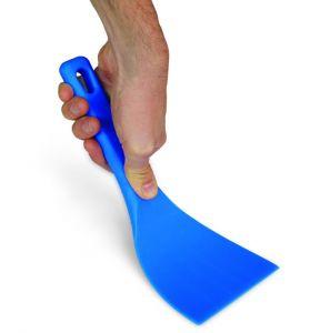 AC-STF12 Spatola flessibile in materiale antiurto colore azzurro, larghezza lama 12 cm