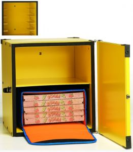 BP50CR Insulated pizza box with shelf for 2 thermal bags ø 50 cm