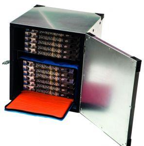 BPE33R Box pizza non coibentato, ripiano centrale per 2 borse termiche ø 33