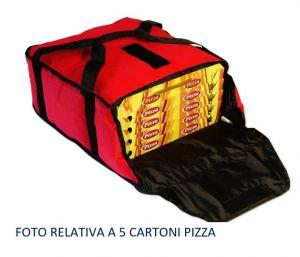 BTD4020 Bolsa térmica de alto aislamiento para 4 cajas de pizza ø 40 cm