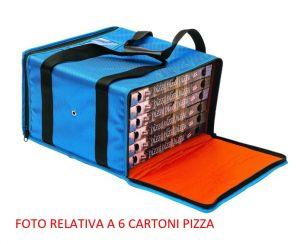 BTR4020 Rigid cooler bag for 4 pizza boxes ø 40 cm zip
