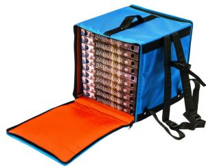 BTZ3340 Rigid backpack thermal bag for 10 pizza boxes ø 33 cm zip