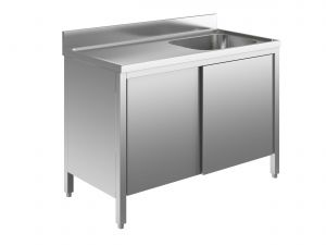 EU01702-14 lavatoio armadio ECO cm 140x70x85h  1 vasca e sg sx - porte scorrevoli