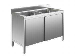 EU01710-10 lavatoio armadio ECO cm 100x70x85h  2 vasche - porte scorrevoli