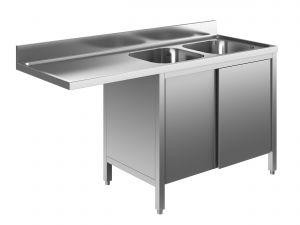 EU01912-18 lavatoio armadio per lavast. ECO cm 180x60x85h  2v e sg sx - porte scorrevoli