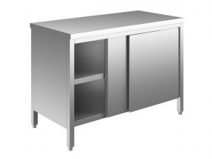 EU03300-17 tavolo armadio ECO cm 170x70x85h  piano liscio - porte scorrevoli