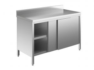 EU03301-13 tavolo armadio ECO cm 130x70x85h  piano alzatina - porte scorrevoli