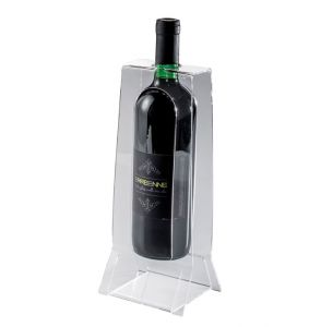 EV04401 EASY 2  Espositore vino con incisione per bottiglie ø 8,2 cm