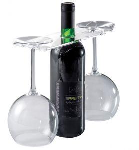 EB00201 GAFAS - Expositor para vino y copas para botellas con agujero 3,3 cm