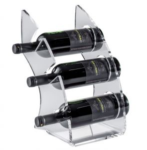 EV01301 CURVY 1 Expositor de plexiglás transparente para botellas ø 8,2 cm