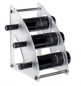 EV01406 CURVY 2 Expositor de plexiglás satinado para botellas ø 8,2 cm