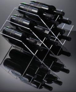 EV02801 GEOMETRIC - Vitrina vitrina con 12 asientos para botellas ø 8.2 cm