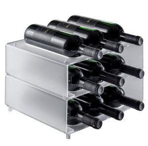 EV02701 NINE - Portabotellas autoportante con nueve asientos para botellas ø 8.2 cm