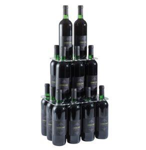EV04301 PIRAMID - Pie piramidal con veinte asientos para botellas con agujero ø 3,3 cm