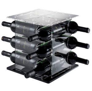 EV05108 CUBE - Portabotellas con base negra para botellas ø 8.2 cm