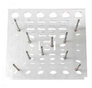 EV01001 SQUARE WALL - Espositore quadrato per vino 33 sedi