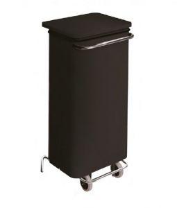 T791221 Contenitore mobile acciaio nero con pedale 110 litri