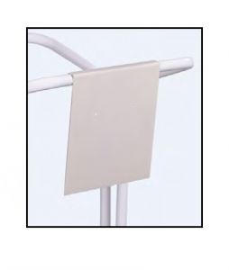 T789133 Enseigne en métal blanc neutre pour porte-sac