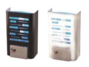 T903120 Mini sterminatore d'insetti con carta moschicida - Inox satinato