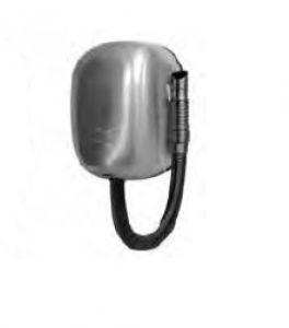 T704562 Secador de pelo de pared con manguera de acero inoxidable AISI 304 cepillado para uso intensivo