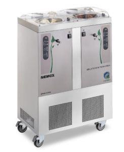 GELATO5 + 5K-TWIN I-GREEN Nemox Double professional ice cream machine