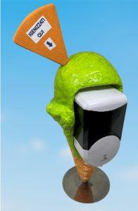 EG-IGI1 Cono de helado con dispensador electrónico automático de jabón líquido insertado