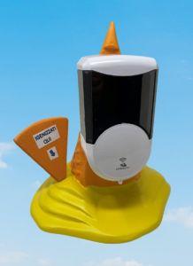 EG-IGI2 Cornet de crème glacée inversé avec distributeur de savon liquide électronique automatique inséré