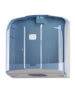 T908121H Distributore di carta asciugamani 300 fogli C-Z-M-V in ABS blu