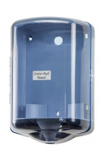 T104024H Distributore di carta in bobina srotolamento centrale ABS blu